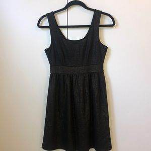 Forever 21 Black Dress with Gold Sparkle